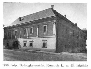 Régi Rákóczi ház - Bodrogkeresztúr 1963.