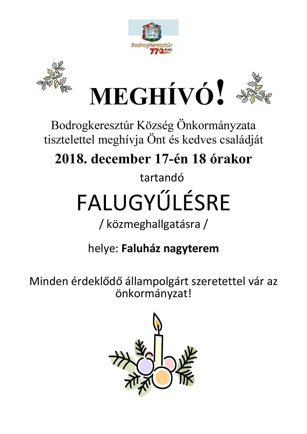 Falugyűlés 2018.